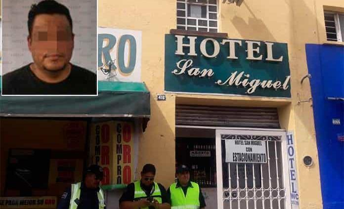 Cae presunto responsable de muerte de mujer en hotel