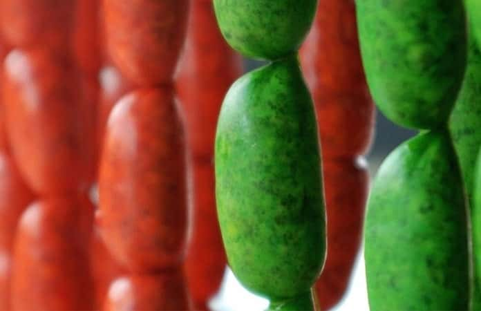 Chorizo verde de Toluca.