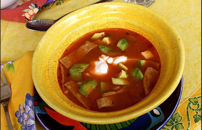 Sopa Tarasca, de mIchoacán.
