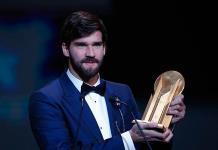Alisson Becker gana el primer trofeo Yashin al mejor portero