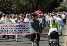 Niega Chalita haber participado en marcha contra AMLO
