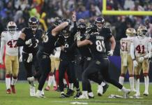 Ataque terrestre de Baltimore, a nada de hacer historia en la NFL