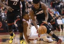 Con ´triple doble´ de Butler, Heat vence a Raptors
