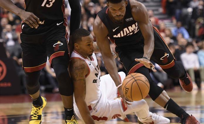 Con ´triple doble´ de Butler, Heat vence a Raptors