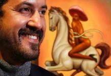 Empresario español compra el polémico cuadro de Zapata desnudo y con tacones