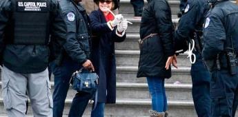 Arrestan a Sally Field en protesta climática que encabeza Jane Fonda