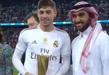 Federico Valverde, el jugador más valioso de la Supercopa