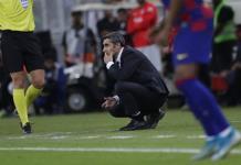 Jugadores del Barcelona se despiden de Ernesto Valverde