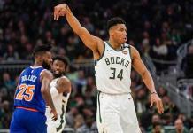 Bucks arrolla 128-102 a Knicks y sigue espectacular en la NBA