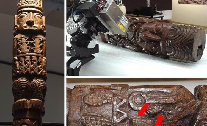 Estudio revela que estatua de dios Inca Pachacámac tenía colorantes agregados