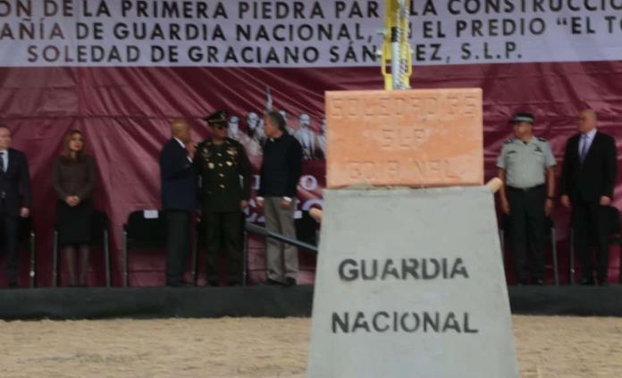 Inicia construcción de sede de la Guardia Nacional en Soledad