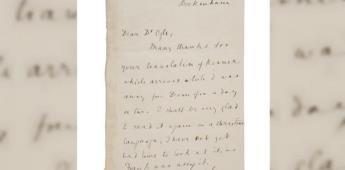 Ofertarán carta firmada por Charles Darwin