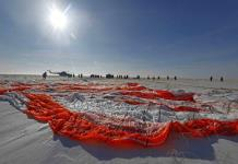 Tripulantes de la Estación Espacial aterrizan en Kazajistán