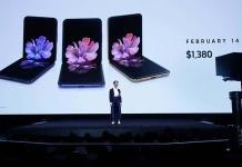 Samsung presenta un nuevo modelo de teléfono plegable, el Galaxy Z Flip