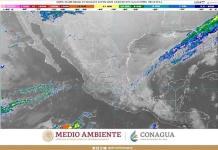 Esperan lluvias muy fuertes en el sureste del país