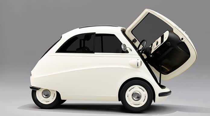 El micro Isetta revive, eléctrico y con luces led'>