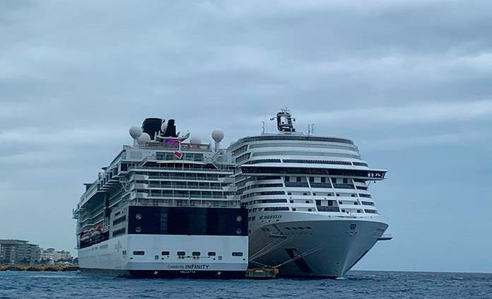 Pese a riesgo permiten anclaje de crucero en Cozumel