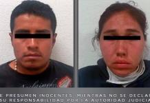 Cae pareja sospechosa de organizar saqueos en Tecámac