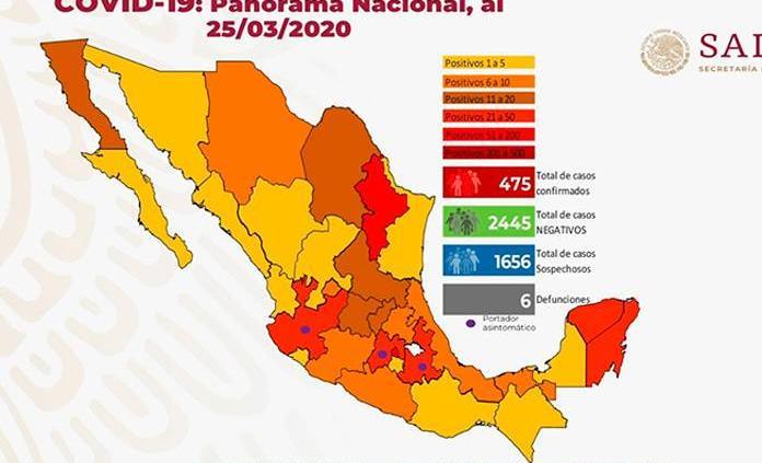 VIDEO  Seis fallecidos y 475 casos positivos de coronavirus en México