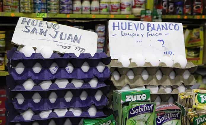Tienditas reportan incremento en el precio del huevo, tortilla y arroz