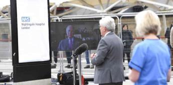 Príncipe Carlos inaugura por vía remota hospital para COVID-19