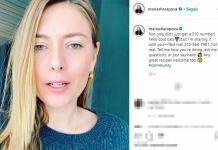 Sharapova da su número de teléfono para estar en contacto con sus seguidores; promete contestar todos los mensajes