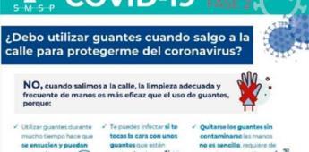 ¿Se debe usar guantes para protegerse del COVID-19 en la calle?