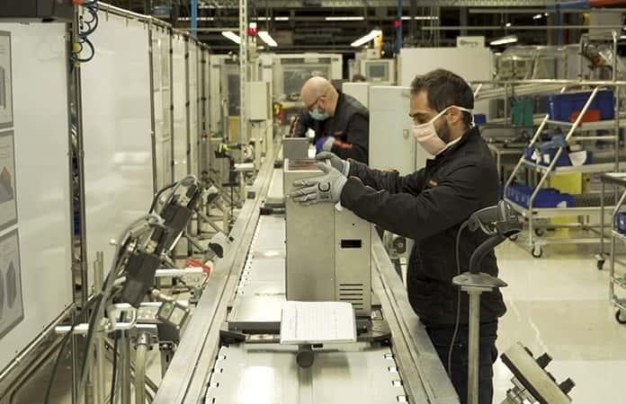 La línea de producción asignada para los respiradores.
