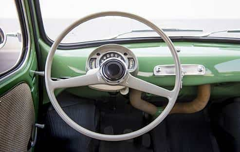Interior de un 600, el producto más democrático de la marca.