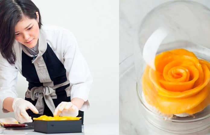 Natsuko y su técnica con fruta.