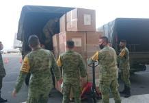 Trasladan a SLP 6.5 toneladas de insumos y equipo médico para personal del Hospital Militar y el Central