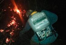 Sofocan incendio de pastizal en camino a la presa