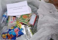 Tailandia envía a casa de excursionistas la basura arrojada en parque natural