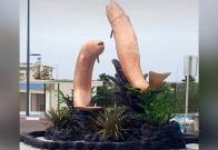 Una escultura de peces en una rotonda marroquí es demolida por su aspecto fálico