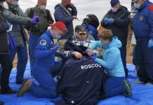 Astronautas regresan a la Tierra desde la Estación Espacial