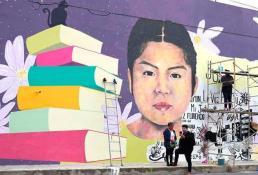 Mural dedicado a joven asesinada en Chimalhuacán transforma injusticia en dignidad