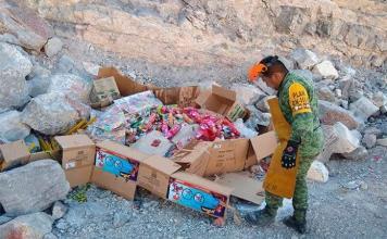 Destruye Sedena 2.3 toneladas de cuetes incautados