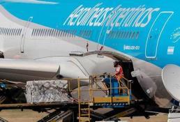 Llega a Argentina el avión de Rusia con la segunda remesa de la Sputnik-V