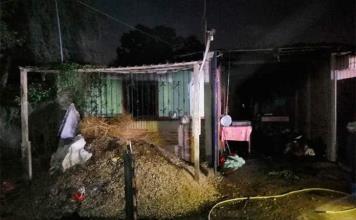 Perece una niñita al quemarse su vivienda en Barrio Los Ángeles
