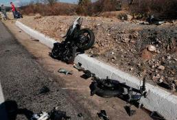 Fallece motociclista  al sufrir accidente