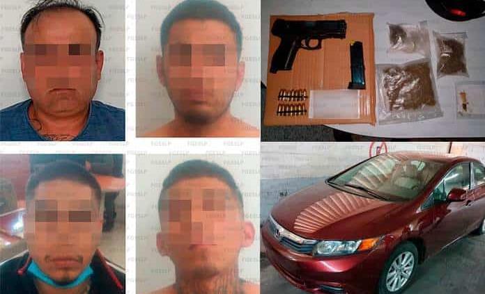 Detiene la FGE a individuos con marihuana y pistola