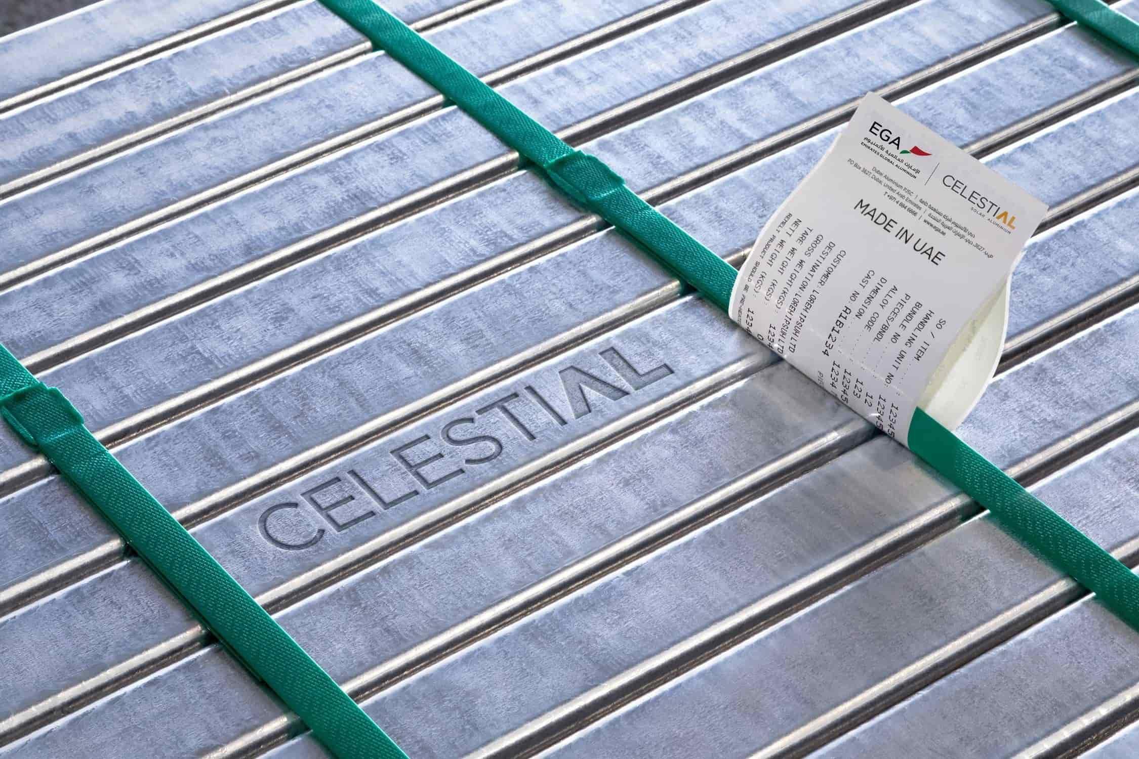 El producto de Emirates Global Aluminium CelestiAL Aluminium