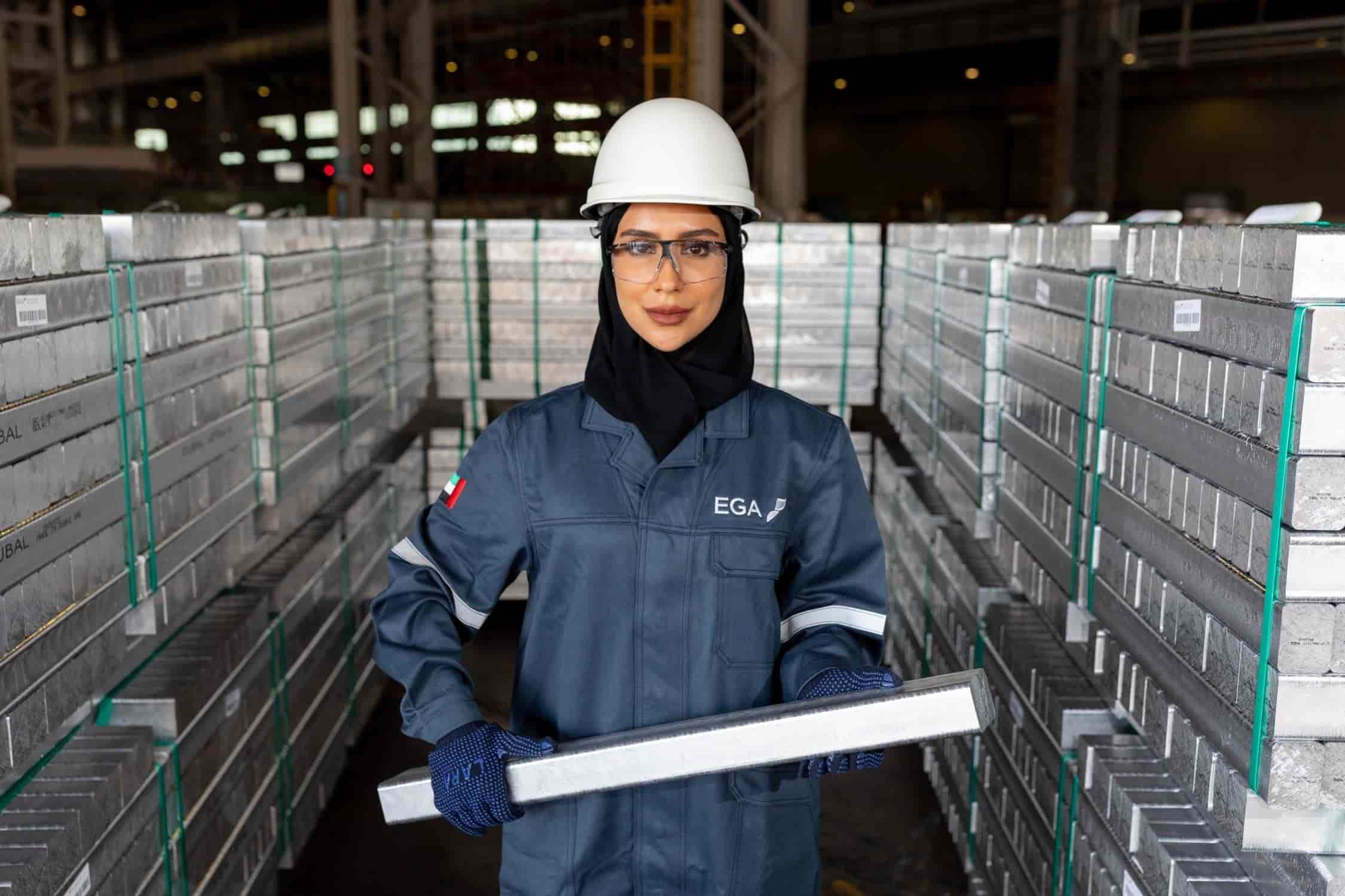 Khuloud Suhool, la superintendente general Prozesskontrolle, Emirates Global Aluminium. Foto: EGA (01/2021)