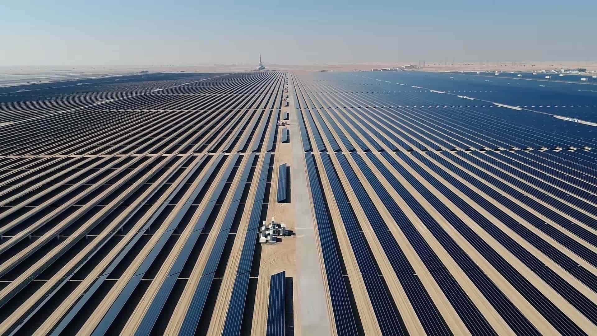 Parque solar Mohammed Bin Rashid Al Maktoum. Foto: Autoridad de Agua y Electricidad de Dubai