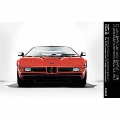 """5. BMW M1 - 1978.El legendario deportivo BMW M1 integraba entradas de ventilación planas debido a la altura de la parte delantera, además, su parrilla es una de las más pequeñas que se hayan usado en un BMW. Las parrillas parecían estar """"incrustadas"""" y separadas de las tomas de aire secundarias por la propia carrocería, además de estar flanqueadas por faros plegables. El diseño de la parrilla doble del BMW M1 se replicó en el diseño de la parte frontal de modelos clásicos posteriores como el BMW Z1 (1988) o el BMW Serie 8 (1989)."""