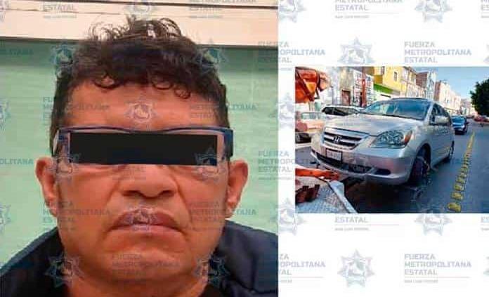 Detenido por posesión de auto con placas sobrepuestas