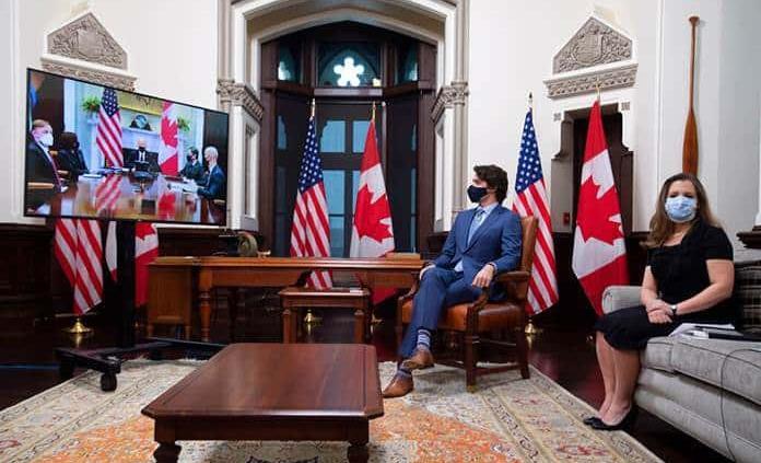 Trudeau le dice a Biden que se ha echado de menos el liderazgo de EEUU