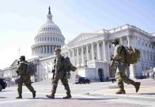 Piden mantener 2 meses más la seguridad en el Capitolio de EEUU