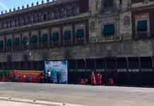 Amurallan Palacio Nacional días antes de las marchas por el 8M