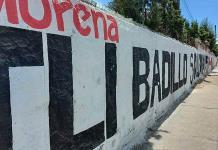 Se promueve Badillo Moreno en bardas de la capital